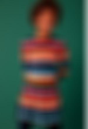 "Vestido tricot ""ornamentos"" para menina"