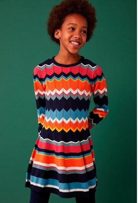"""Knitwear dress """"friezes"""" for girl_1"""