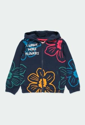 Casaco felpa floral para menina_1