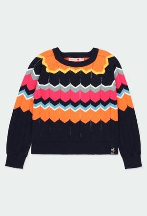 "Pullover tricot ""ornamentos"" para menina_1"