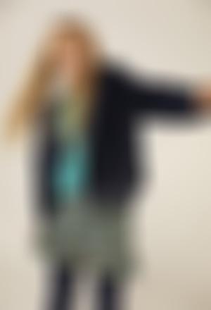 Wind breaker fur hooded for girl