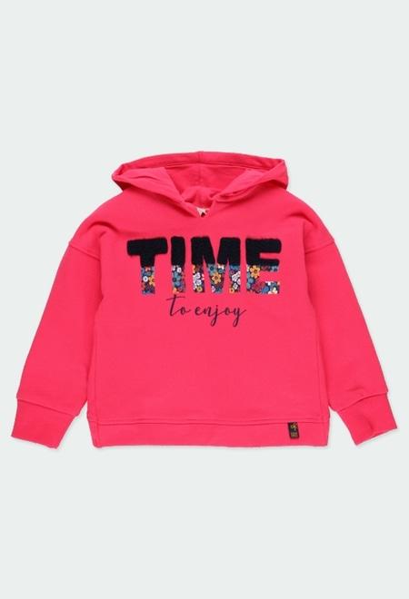 """Fleece sweatshirt stretch """"letters"""" for girl_1"""