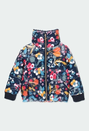 Technical fabric parka floral for girl_1