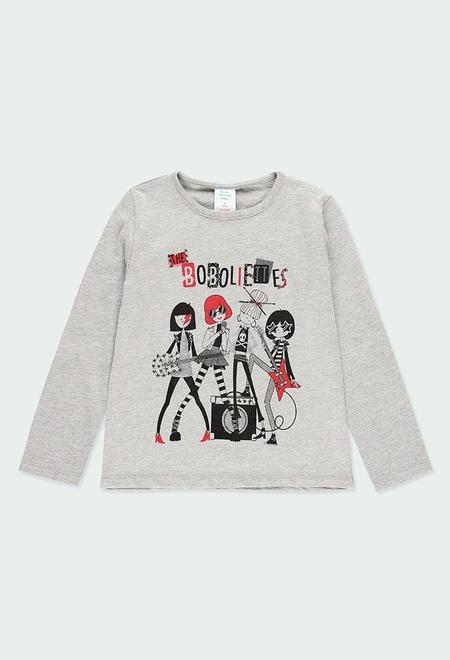 Camiseta punto fantasía de niña_1
