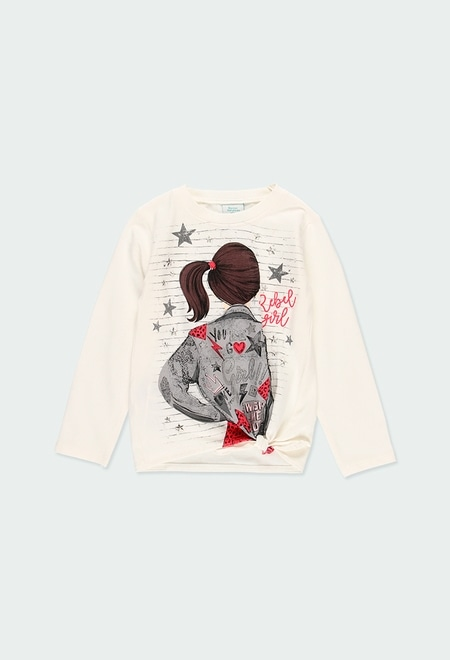 """Camiseta punto """"Rebel Girl"""" de niña_1"""