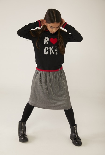 "Pullover tricot ""rock"" para menina_1"
