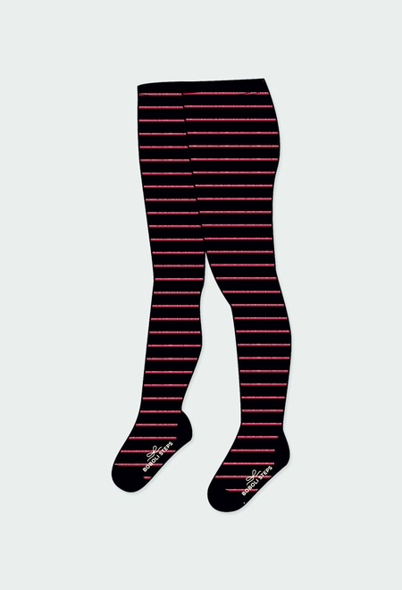 Thick tights striped for girl_1