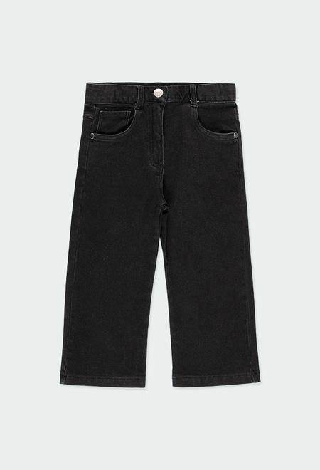 Jeans maille pour fille_1
