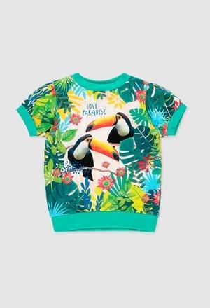 Camiseta punto flamé de niña_1