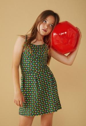 Vestido malha elástico para menina_1