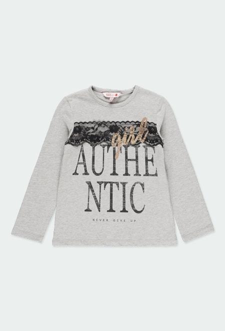 T-Shirt tricot en guipure pour fille_1
