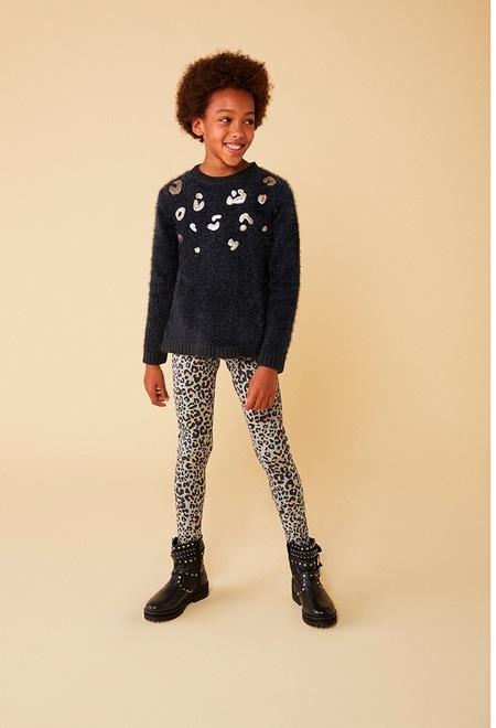 Jersey tricotosa con guipur de niña_1