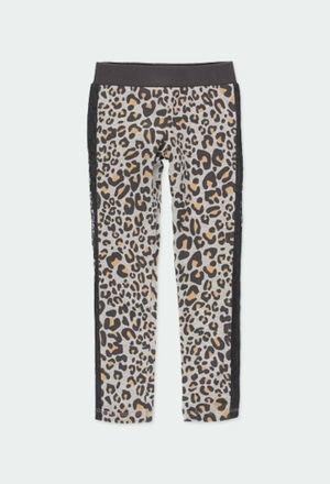 Leggings punto animal print de niña_1