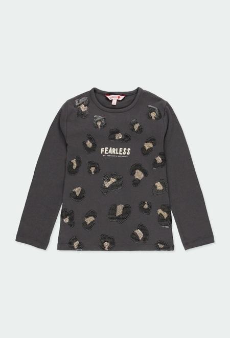 Camiseta punto con lentejuelas de niña_1