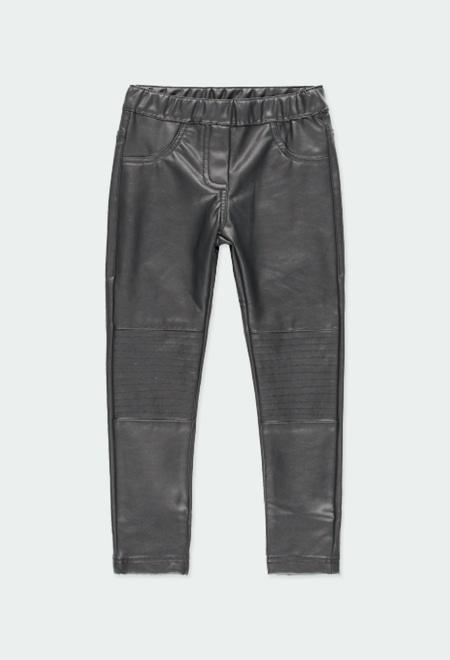 Pantalon cuir synthétique pour fille_1