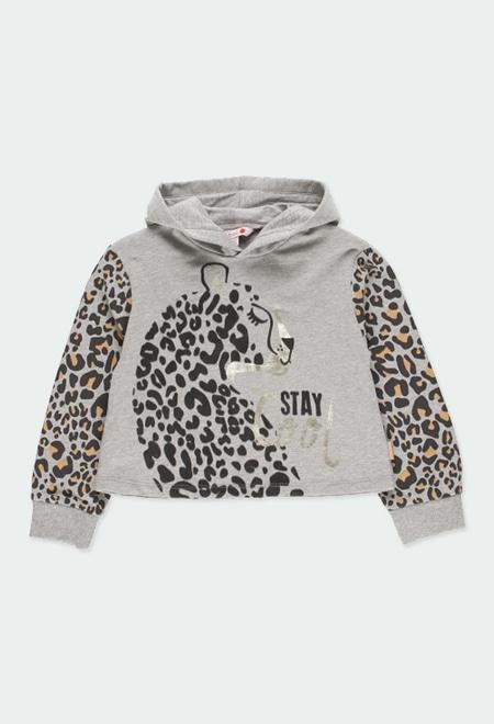 Fleece sweatshirt fur for girl_1