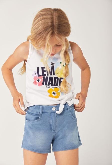 Maglietta jersey elastico bretelle per ragazza_1