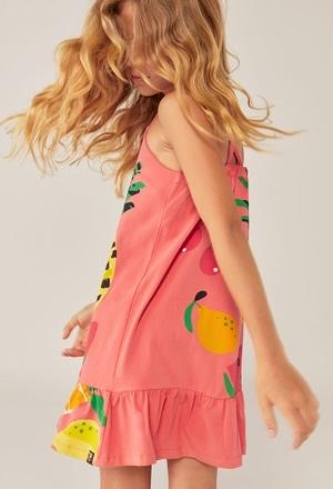 Kleid gestrickt elastisch hosenträger für mädchen_1