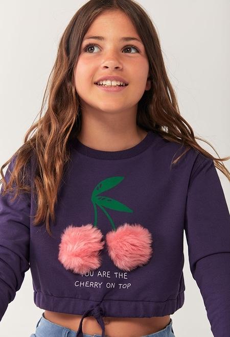 Fleece sweatshirt for girl_1