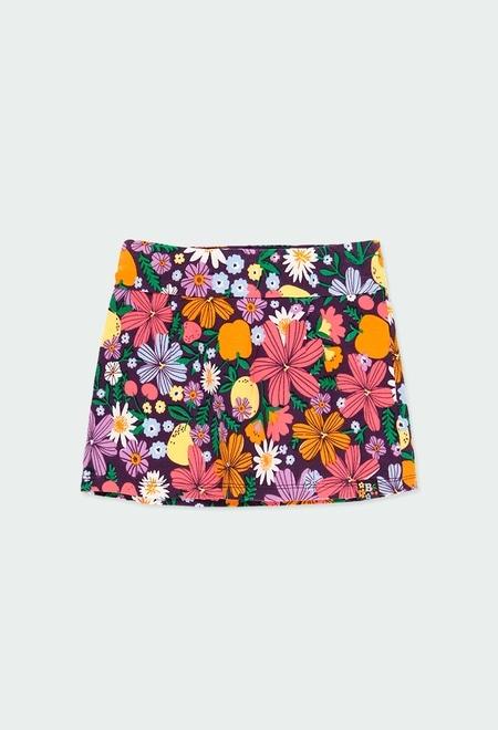 Jupe culotte fruits pour fille_1