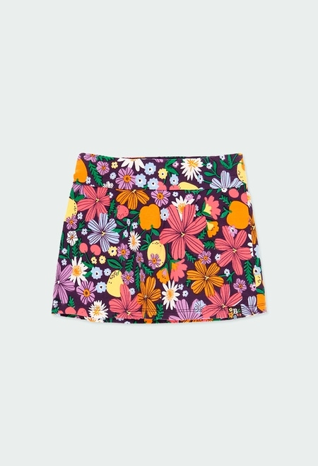 Knitted pant skirt fruits for girl_1