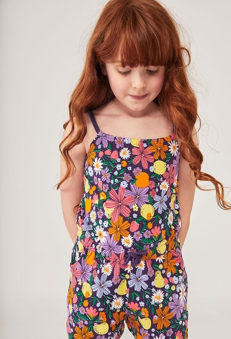 Stretch jumpsuit fruits for girl_1