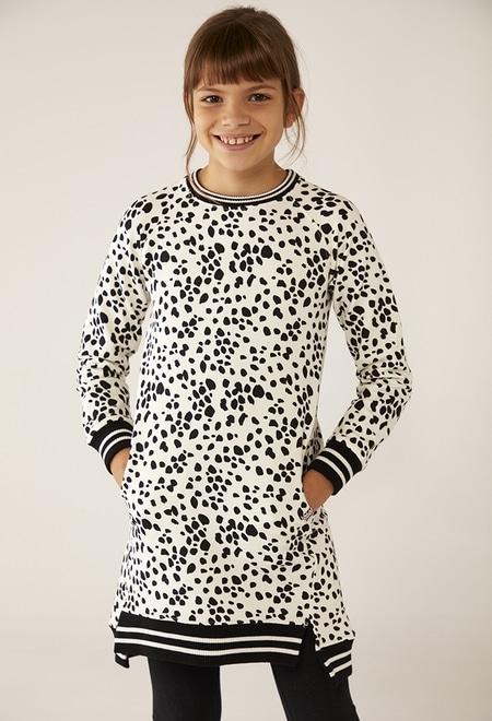Vestido felpa animal print de niña_1