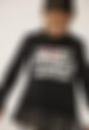"""T-Shirt tricot """"my bbl friends"""" pour fille"""
