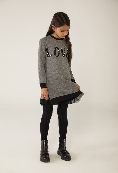 Knit dress for girl_1