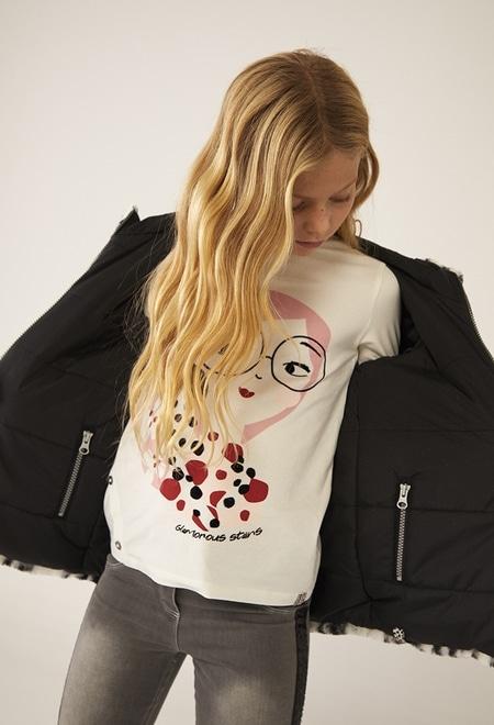 """Camiseta punto """"niña y perrito"""" de niña_1"""