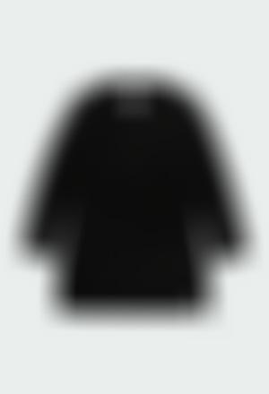 Vestido tricotosa con lazo de niña