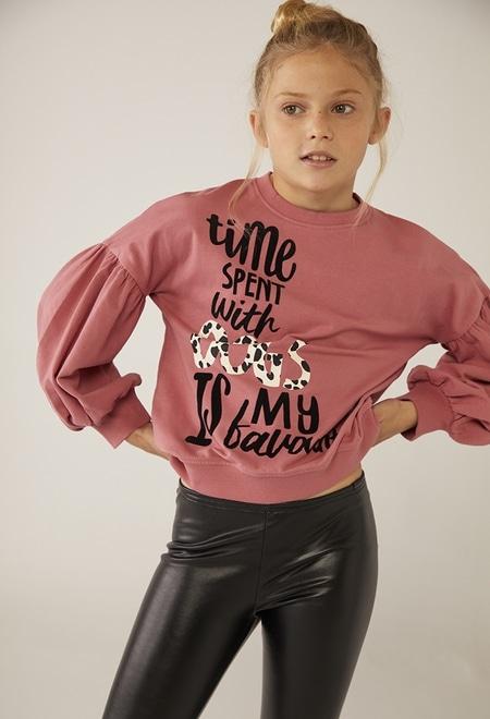 """Fleece sweatshirt """"letters"""" for girl_1"""