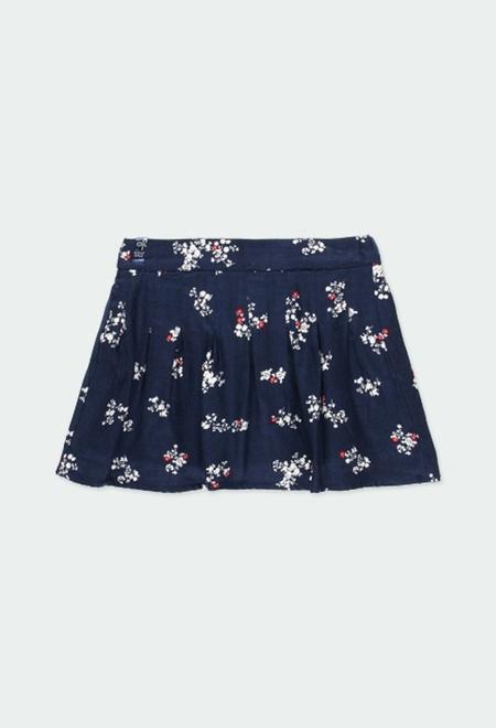 Saia viella floral para menina_1