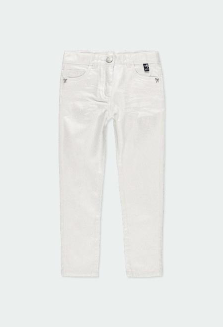Pantalon stretch en satin pour fille_1