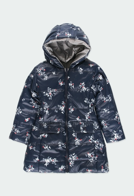 Reversible parka floral for girl_1