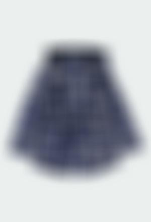 Impermeable con capucha cuadros de niña
