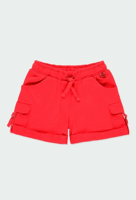 Fleece bermuda shorts flame for girl_1