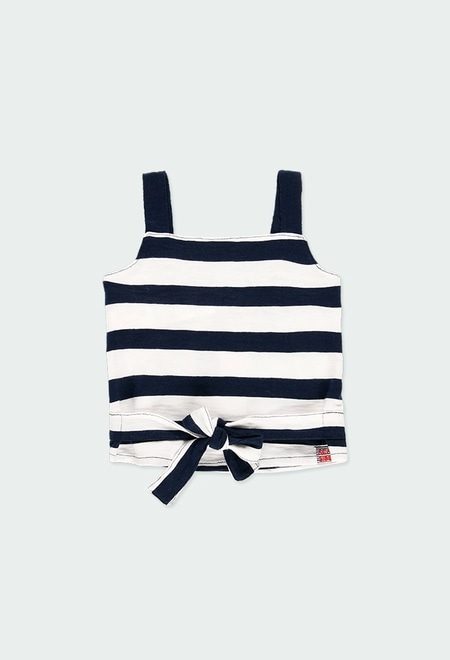 Shirt knit striped for girl_1