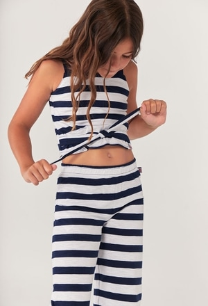 Knit trousers striped for girl_1