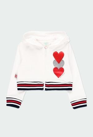 Fleece jacket hearts for girl_1