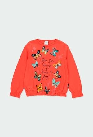 """T-Shirt tricot """"papillons"""" pour fille_1"""