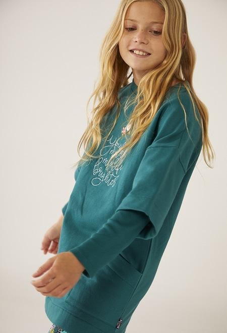 Fleece dress stretch for girl_1