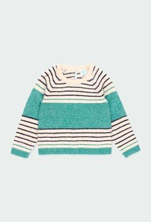 Strick pullover gestreift für mädchen_1