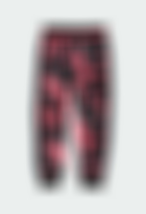 Calças veludo floral para menina