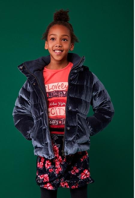 """Knit t-Shirt """"new york"""" for girl_1"""