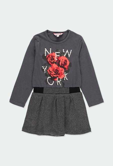 """Vestido punto """"new york"""" de niña_1"""