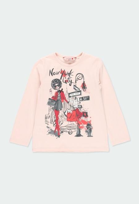 """T-Shirt gestrickt """"new york 1845"""" für mädchen_1"""