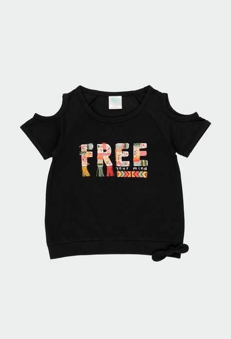 "Camiseta malha ""free spirit"" para menina_1"