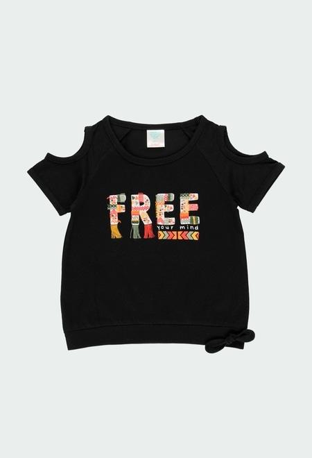 "Knit t-Shirt ""free spirit"" for girl_1"