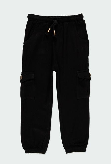 Pantalón viscosa con bolsillos de niña_1